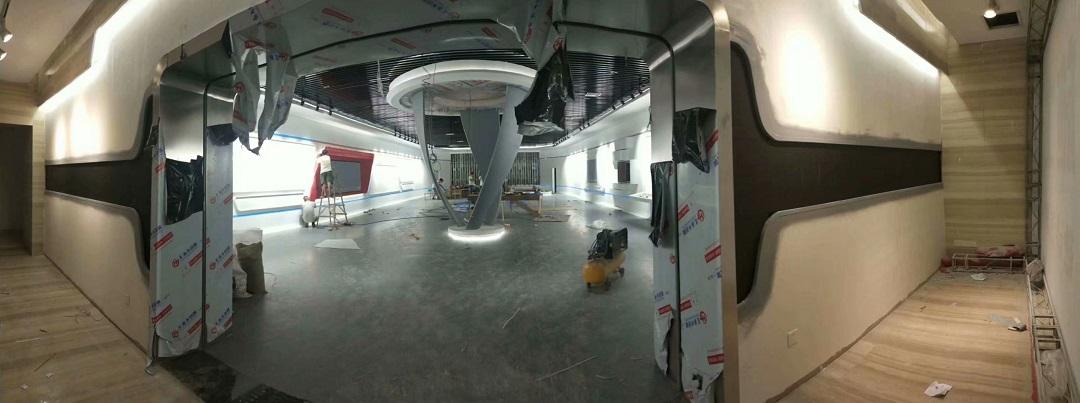 张家港保税科技展馆室内P3全彩完美点亮!