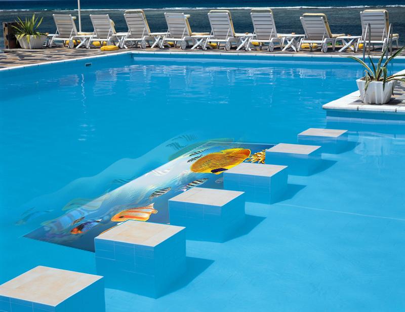 水下屏-游泳馆水中透明led显示屏解决方案!