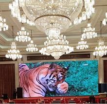 上海万豪酒店3.9高配租赁屏完美显示!