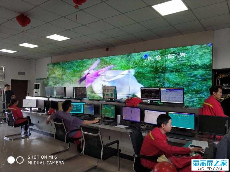 江苏沙钢集团18块55寸三星液晶拼接屏完美显示!