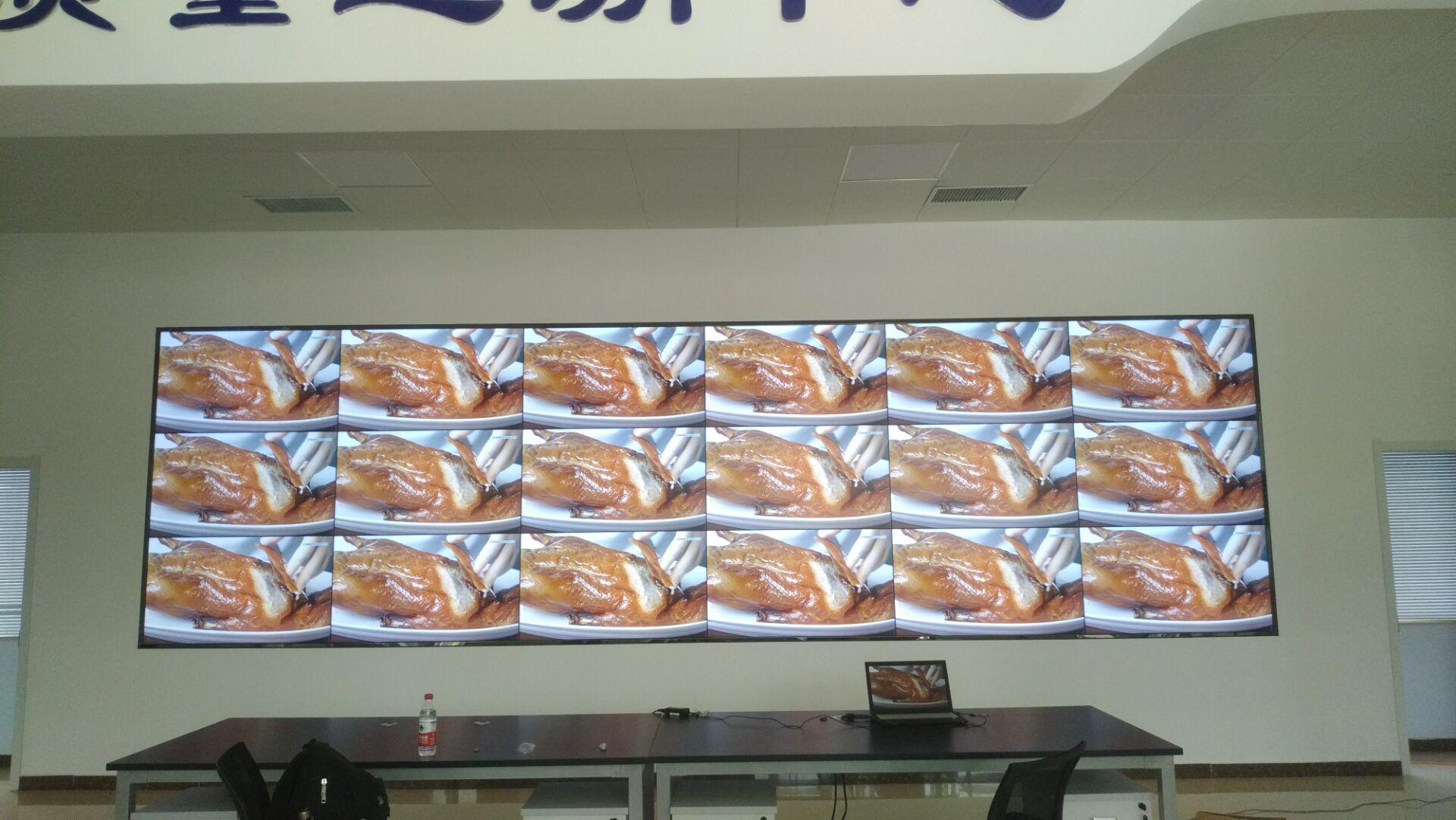 苏州蓬莱山庄在迷你光电采购一套55寸1.7mm液晶拼接屏