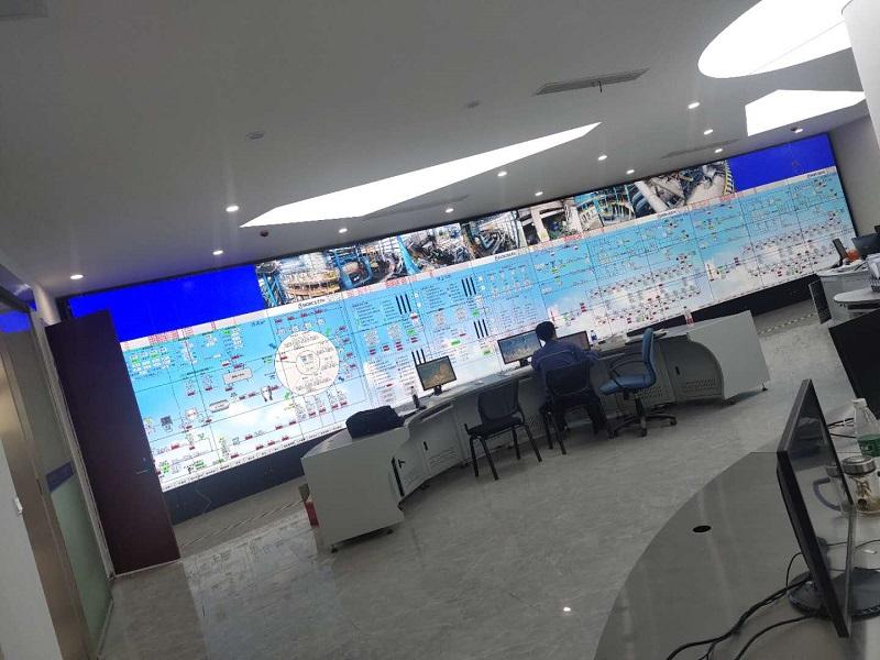 江苏永钢集团采购55寸三星1.7拼缝LED屏50块