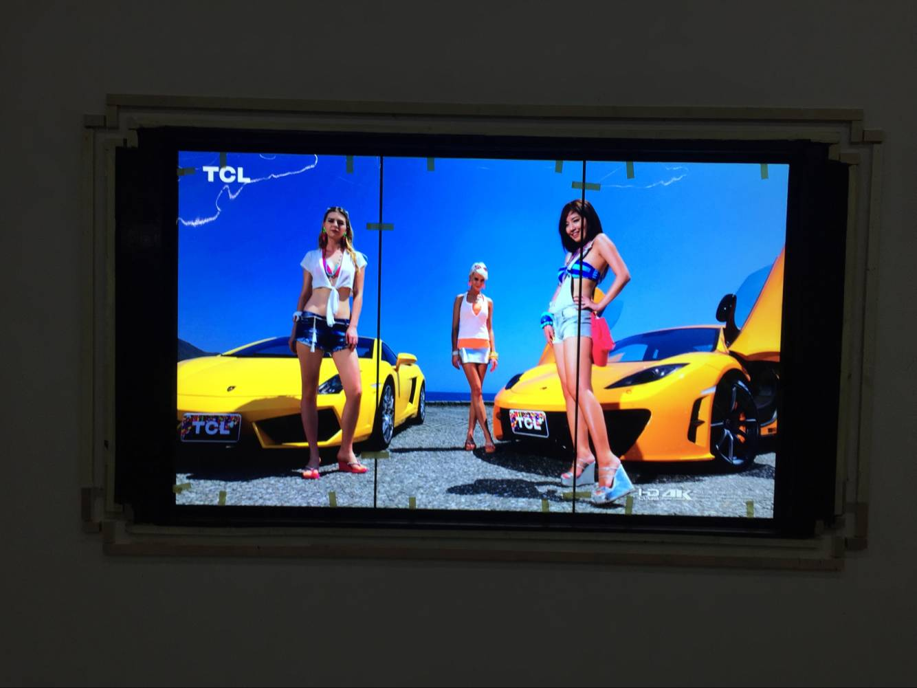徐州城市展览馆在迷你光电采购一套46寸竖屏5.5mm带触摸框液晶拼接屏