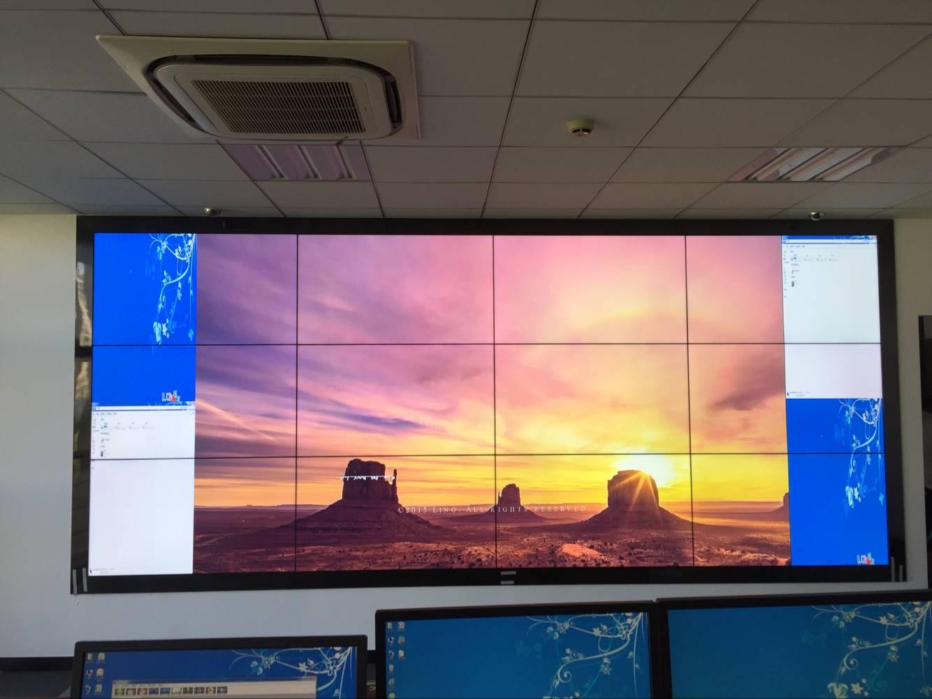 江苏拼接屏55寸3.5mm液晶拼接屏图片