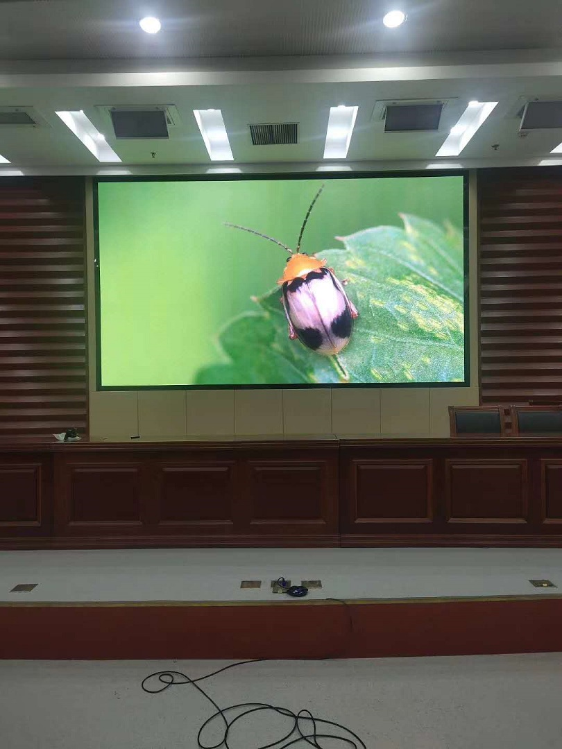 泰州市姜堰区区政府1.25小间距led显示屏完美点亮!