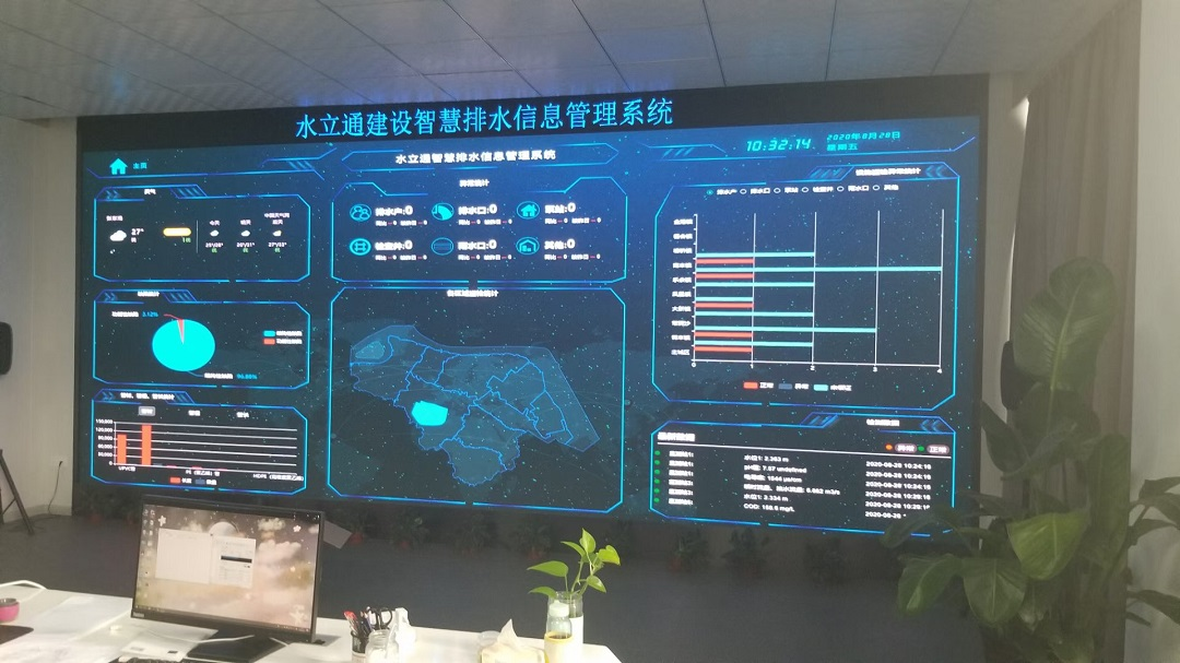 江苏水立通建设(江苏)大数据中心LED显示屏完工!